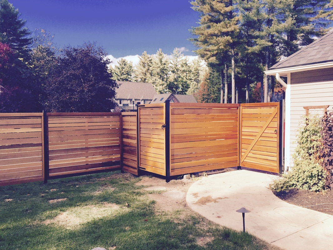Wood fencing fence solutions inc all clear western red cedar with a oil finish 3 aluminum posts baanklon Images
